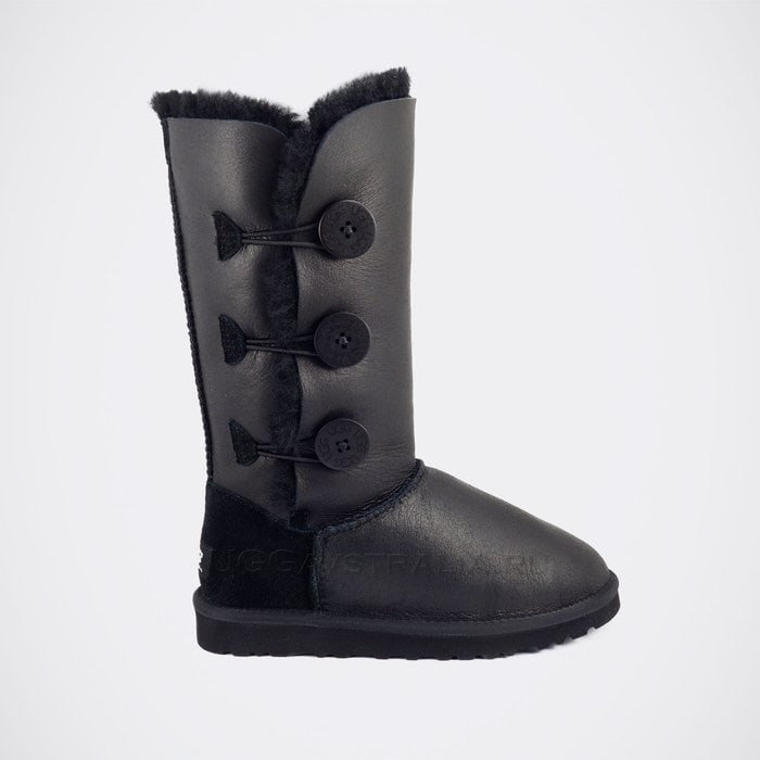 Женские полусапожки UGG Bailey Button Triplet Metallic Black