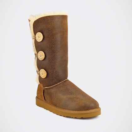 Угги UGG Bailey Button Triplet Bomber Chestnut