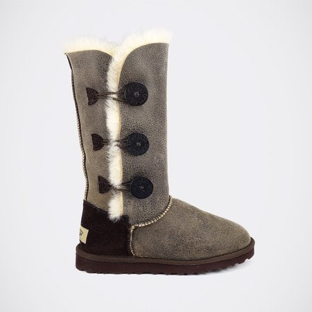 Угги UGG Bailey Button Triplet Bomber Chocolate