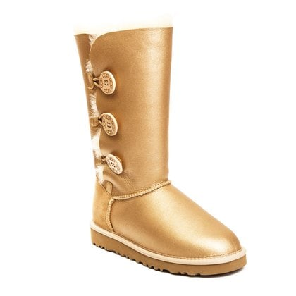 Угги UGG Bailey Button Triplet Metallic Sand