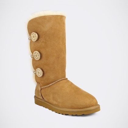 Угги UGG Bailey Button Triplet Chestnut
