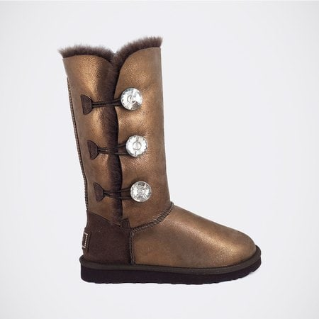 Угги UGG Bailey Bling Triplet Glitter Chocolate
