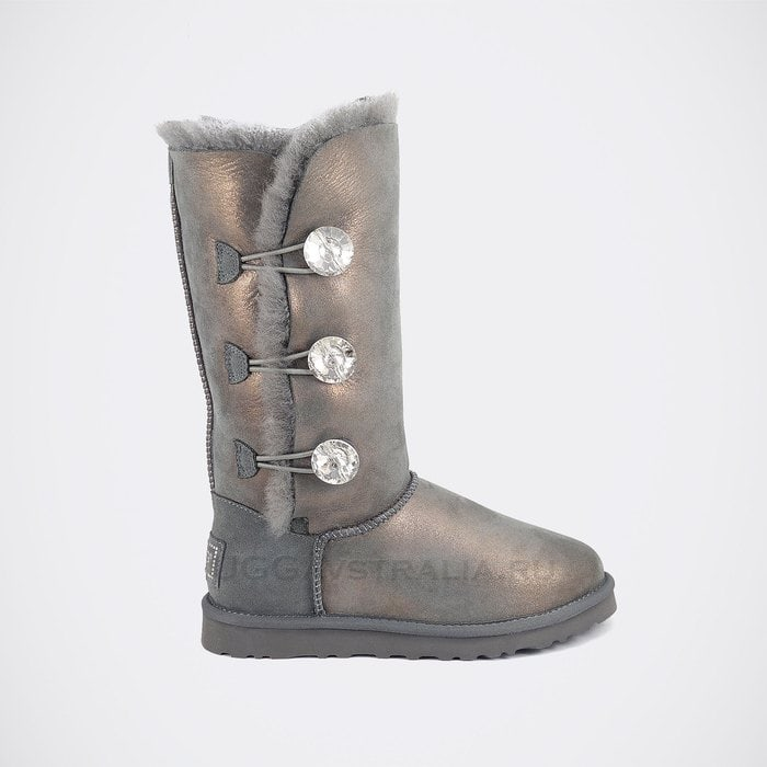 Женские полусапожки UGG Bailey Bling Triplet Glitter Grey