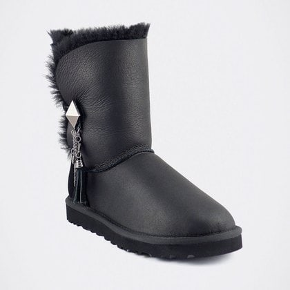 Угги UGG Bailey Button Lilou Metallic Black