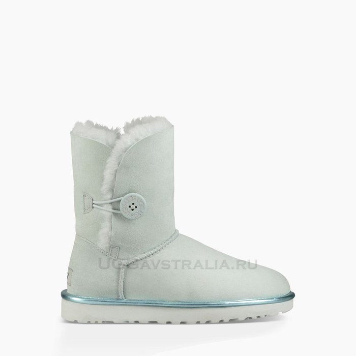 Женские полусапожки UGG Bailey Button II Metallic Iceberg