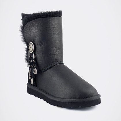 Угги UGG Bailey Button Azalea Metallic Black