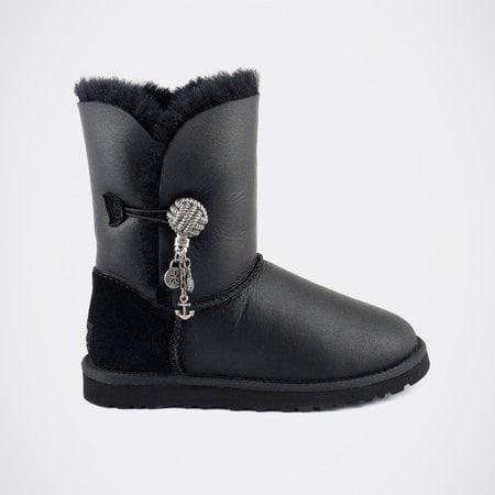 Угги UGG Bailey Button Briana Metallic Black