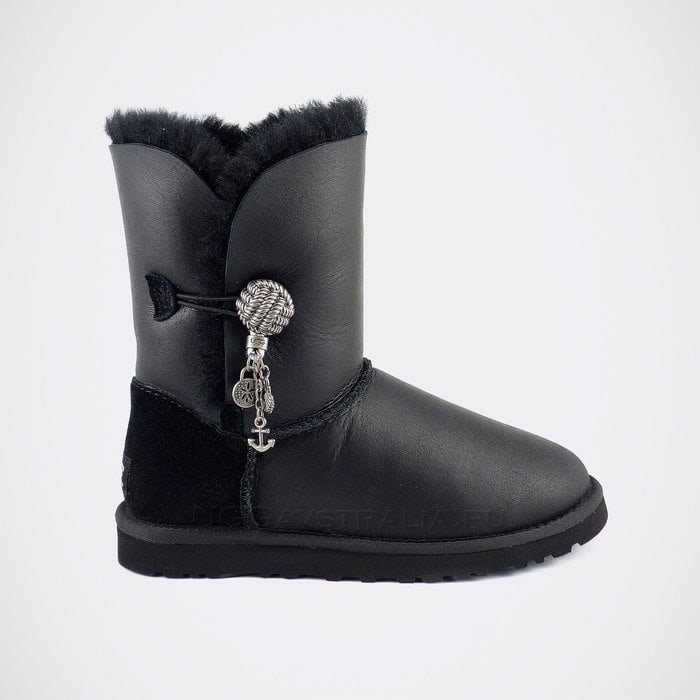 Женские полусапожки UGG Bailey Button Briana Metallic Black