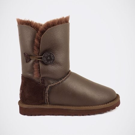 Угги UGG Bailey Button Metallic Chocolate