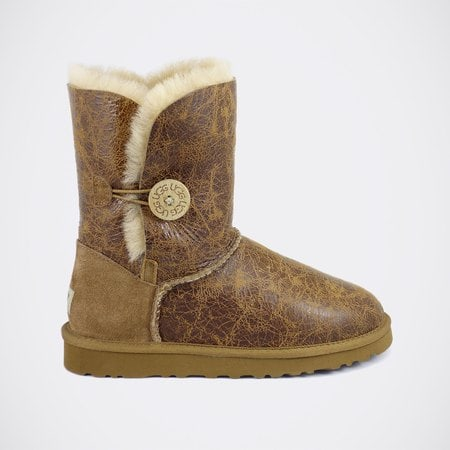Угги UGG Bailey Button Krinkle Chestnut
