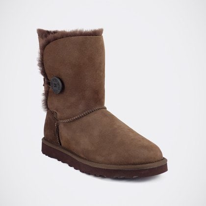 Угги UGG Bailey Button Chocolate