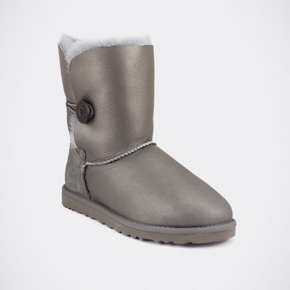 Угги UGG Bailey Button Metallic Grey