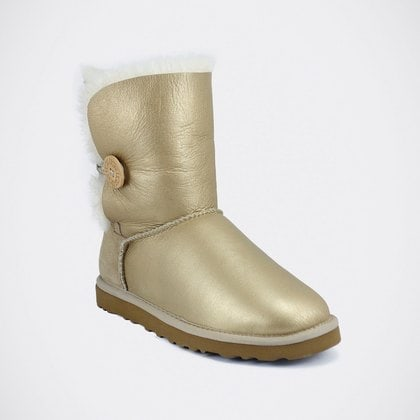 Угги UGG Bailey Button Metallic Sand