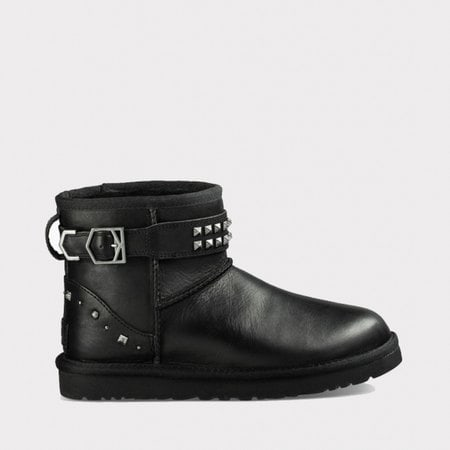 Угги UGG Neva Deco Studs Leather Black
