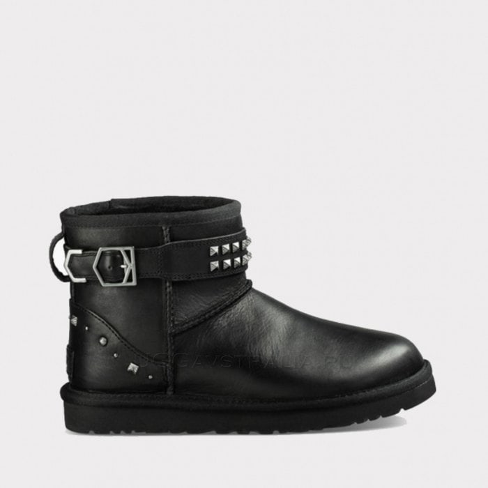 Женские полусапожки UGG Neva Deco Studs Leather Black