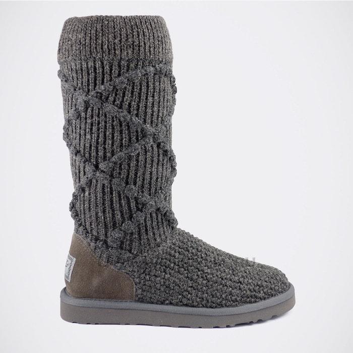 Женские полусапожки UGG Classic Argyle Knit Grey