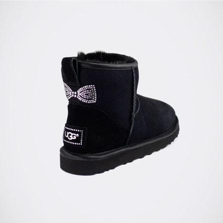 Угги UGG Mini Crystal Bow Black