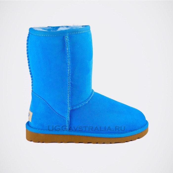 Женские полусапожки UGG Classic Short Blue
