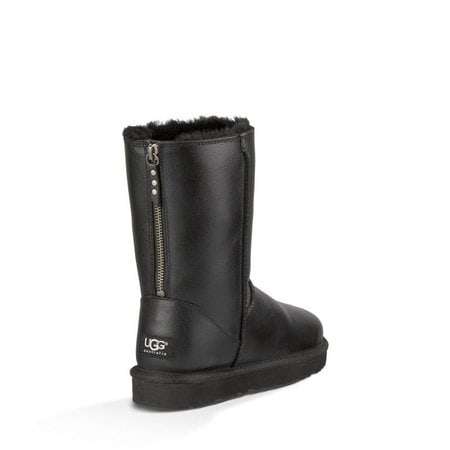 Угги UGG Short One Zip Leather Black