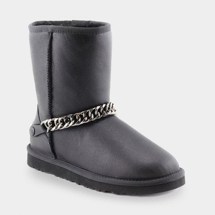 Угги UGG Classic Short Chain Metallic Black