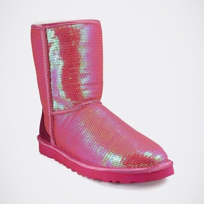 Угги UGG Classic Short Sparkles Pink