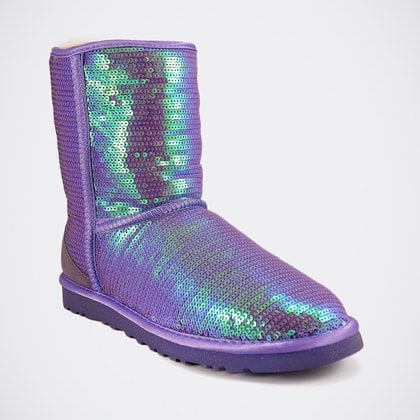 Угги UGG Classic Short Sparkles Purple