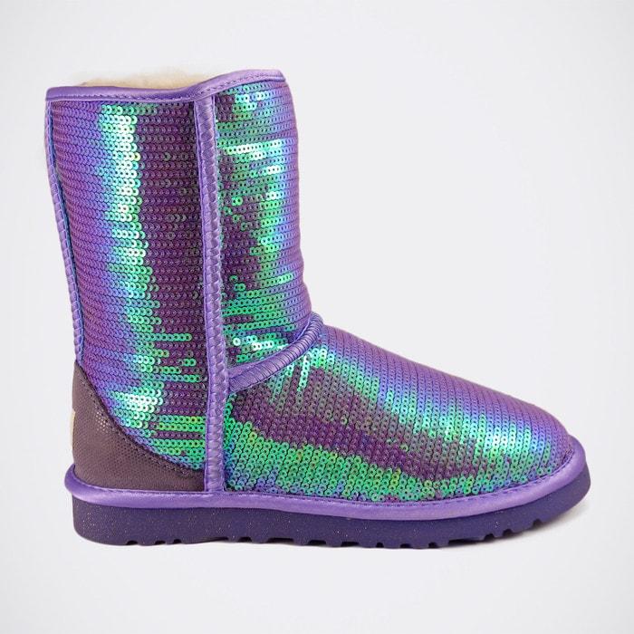 Женские полусапожки UGG Classic Short Sparkles Purple