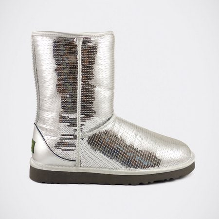 Угги UGG Classic Short Sparkles Silver