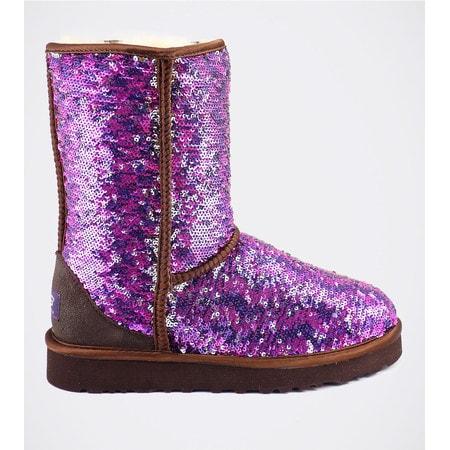 Угги UGG Classic Short Sparkles Camo Purple