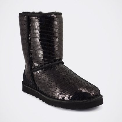 Угги UGG Classic Short Sparkles Black