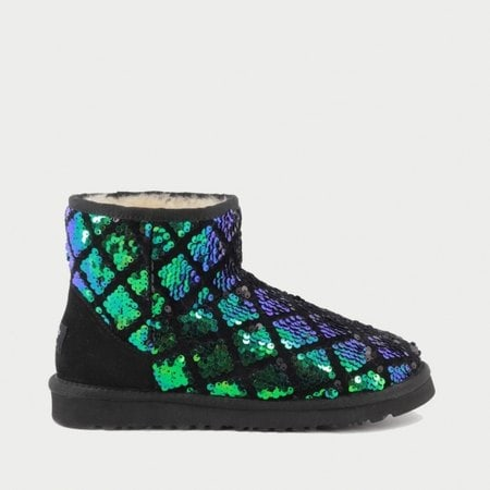Угги UGG Mini Sparkles Romb Green