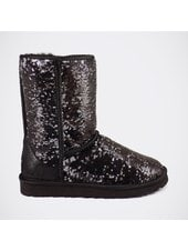 Угги UGG Classic Short Sparkles Camo Black-Silver