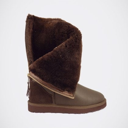 Угги UGG Classic Tall Zip Metallic Chocolate