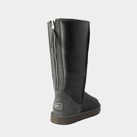 Угги UGG Classic Tall Zip Metallic Grey