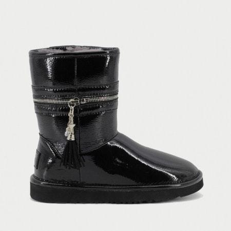 Угги UGG Jimmy Choo Zipper Leather Black