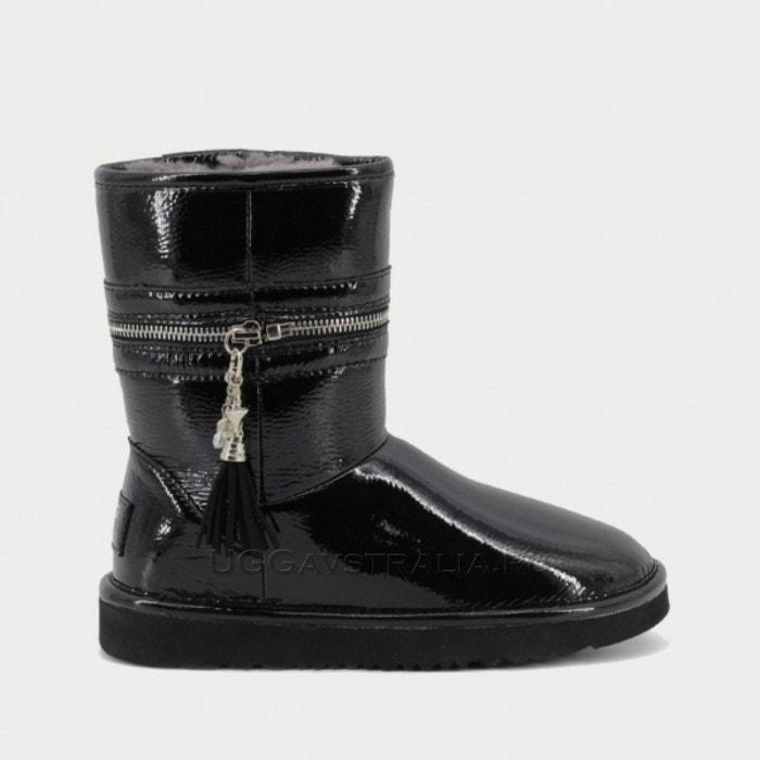 Женские полусапожки UGG Jimmy Choo Zipper Leather Black