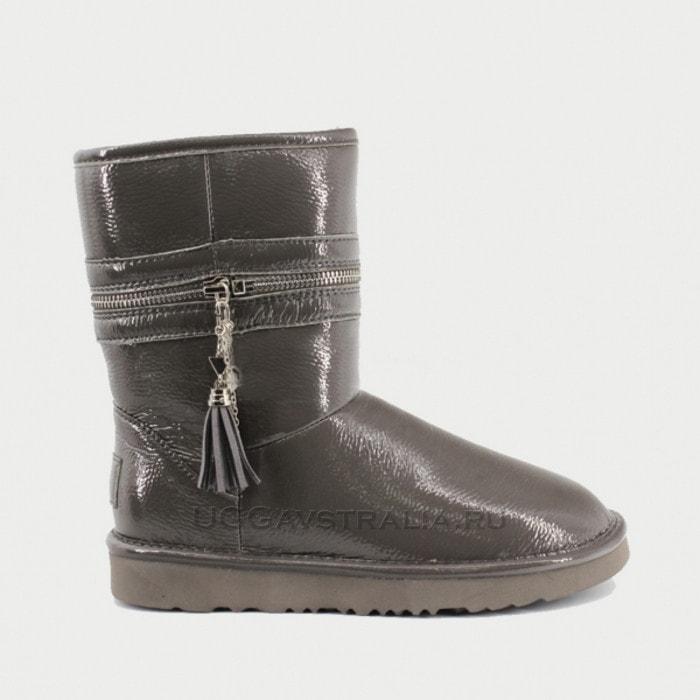 Женские полусапожки UGG Jimmy Choo Zipper Leather Grey