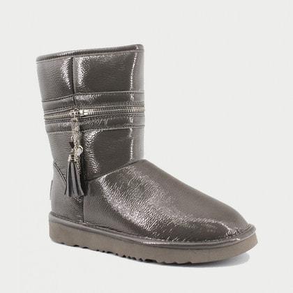 Угги UGG Jimmy Choo Zipper Leather Grey