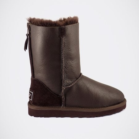 Угги UGG Classic Short Zip Metallic Chocolate