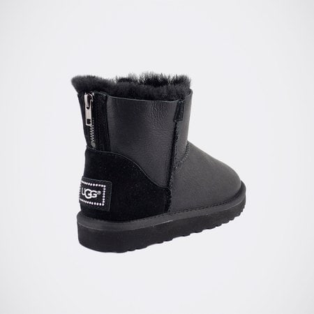 Угги UGG Classic Mini Zip Metallic Black
