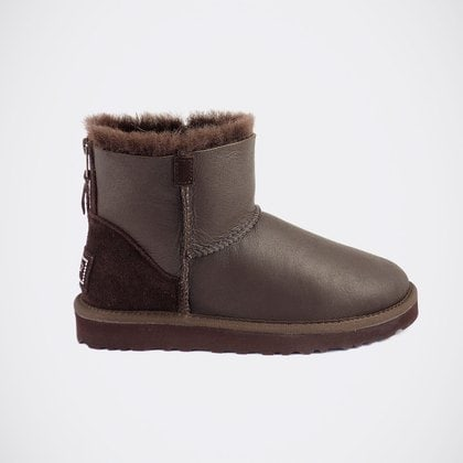 Угги UGG Classic Mini Zip Metallic Chocolate