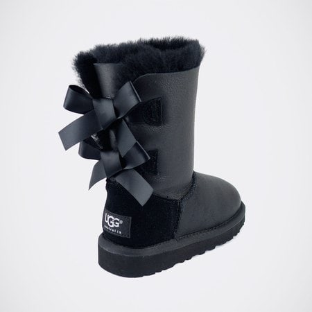Угги UGG Kids Bailey Bow Metallic Black
