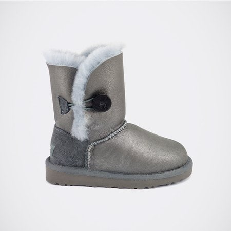 Угги UGG Kids Bailey Button Metallic Grey
