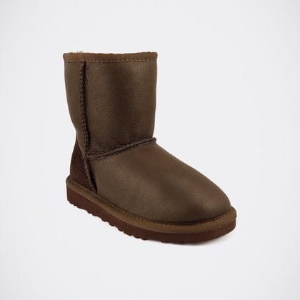 Угги UGG Kids Classic Short Metallic Chocolate