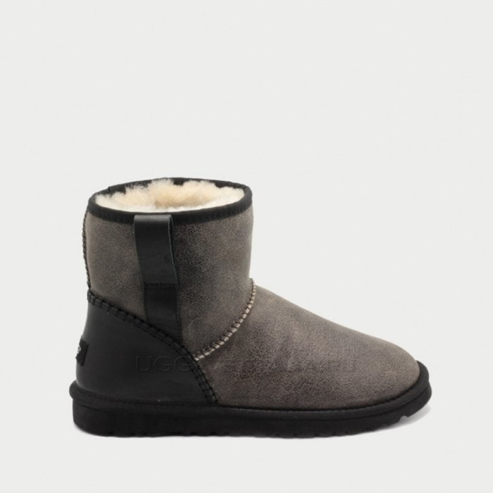 Мужские полусапожки UGG Mens Classic Mini Stitch Bomber Grey