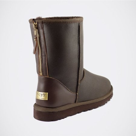 Угги UGG Mens Classic Short Zip Metallic Chocolate