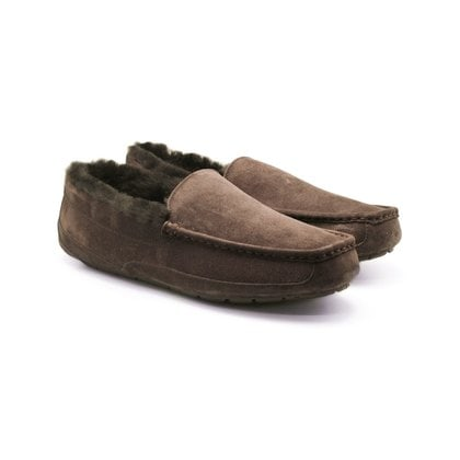 Мокасины UGG Mens Ascot Chocolate Fur