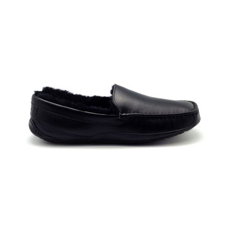 Мокасины UGG Mens Ascot Leather Black Fur