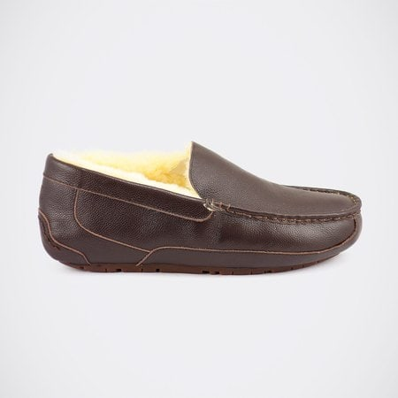 Мокасины UGG Mens Ascot Leather Chocolate