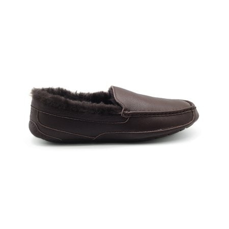 Мокасины UGG Mens Ascot Leather Chocolate Fur
